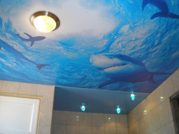 Натяжной потолок в ванную комнату? Идеальное решение!