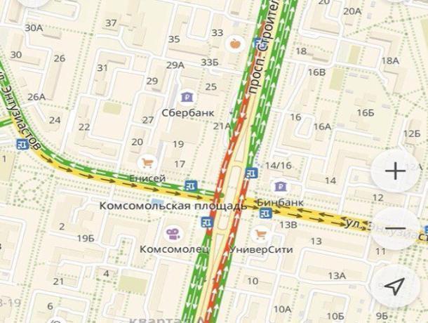 Волгодонцы жалуются на пробки в центре города из-за убранного знака на кольце