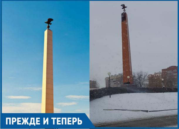 Пережила падение и изменила цвет за годы стела «Слава строителям Волгодонска»
