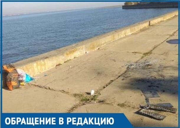 Волгодонцы возмущены переполненным мусором на Набережной В-9