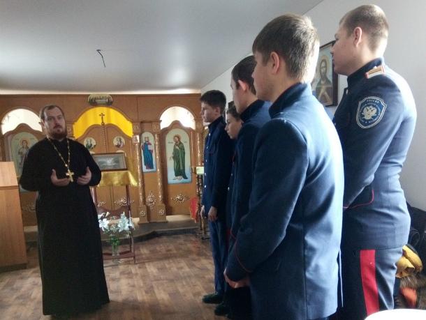 Духовник волгодонского городского казачьего общества провел встречу с активистами «Донцов»