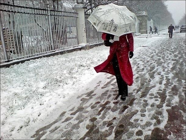 Обложной снег и сильный ветер ожидаются в Волгодонске в первый рабочий день недели