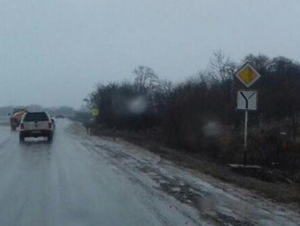 На дорожной развязке при въезде в Волгодонск установили новые знаки