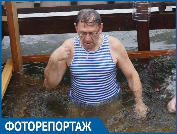 Фоторепортаж с Крещенской купели в порту Волгодонска