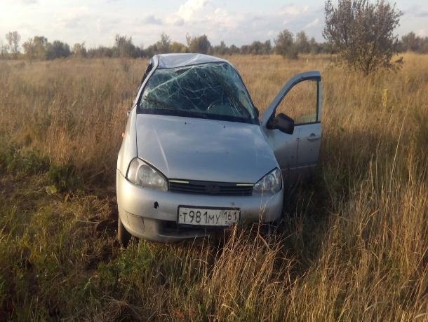 Пьяный водитель вылетел в кювет и перевернулся неподалеку от Волгодонска