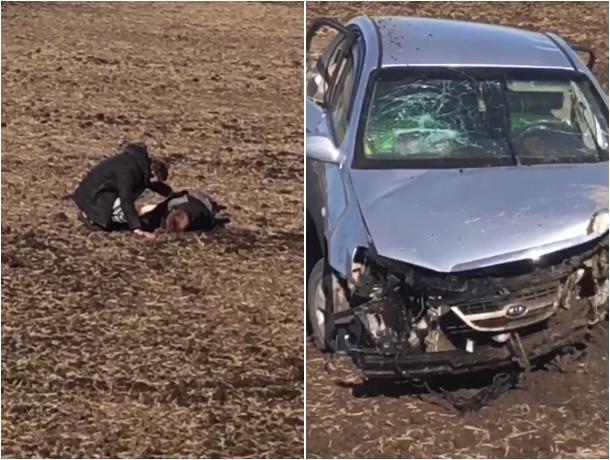 Душераздирающие кадры жуткой аварии на трассе Ростов-Волгодонск запечатлели волгодонцы