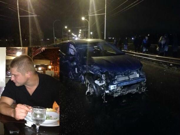 Суд отправил в колонию-поселения экс-полицейского Дениса Олейникова, виновного в смертельной аварии на мосту