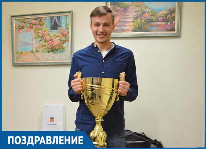 Вратарь ФК «Волгодонск» Александр Соловьев отмечает день рождения