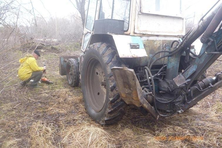 В Волгодонске остановили корчевателя на колесах