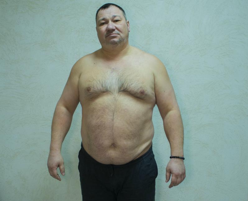132-килограммовый Сергей Красников работает в службе безопасности - четвертый участник «Сбросить лишнее»
