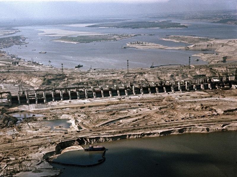 Как выглядела стройка Цимлянской ГЭС с высоты птичьего полета