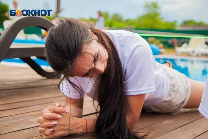 Травмированная Юлия Добровольская «сломалась» на планке