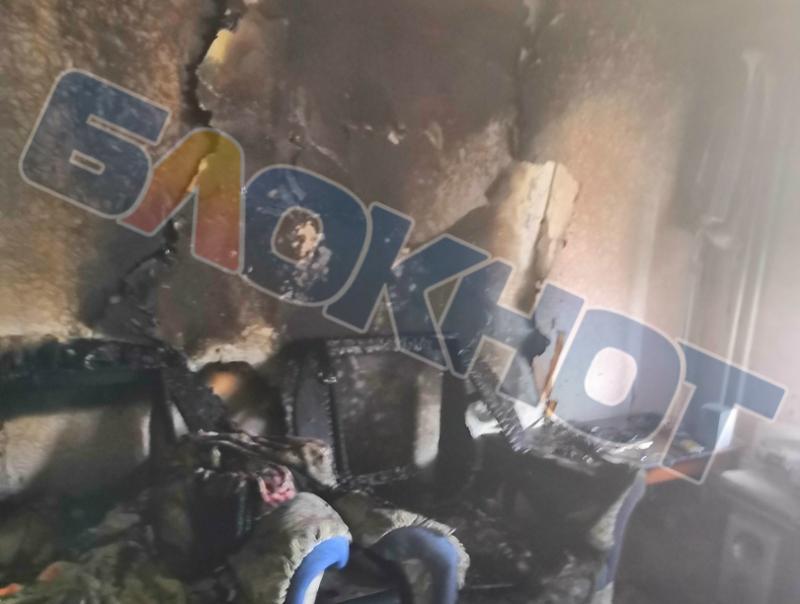 Зарядка аккумулятора привела к крупному пожару в квартире на Гагарина