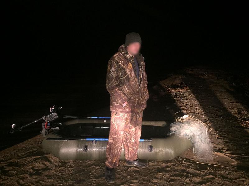 30-летний браконьер был пойман на берегу Цимлянского водохранилища