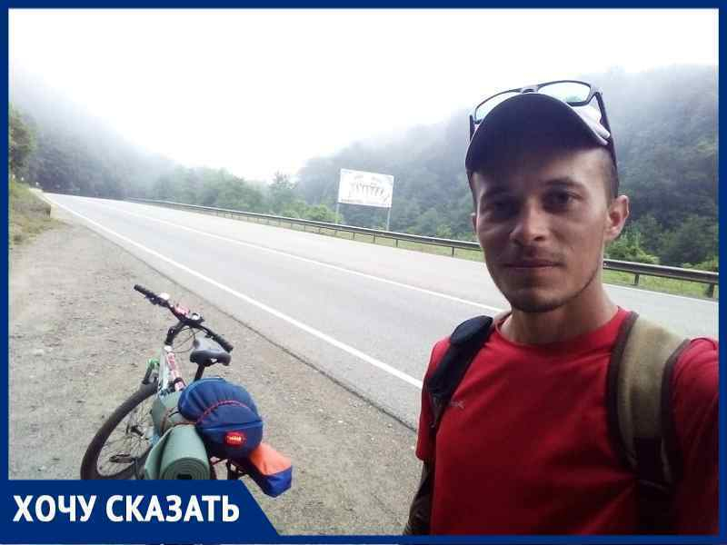 Волгодонец в одиночку совершил марш-бросок на велосипеде к Черному морю