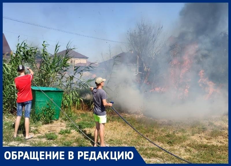 Опасный ливневый канал спровоцировал возгорание в квартале В-21