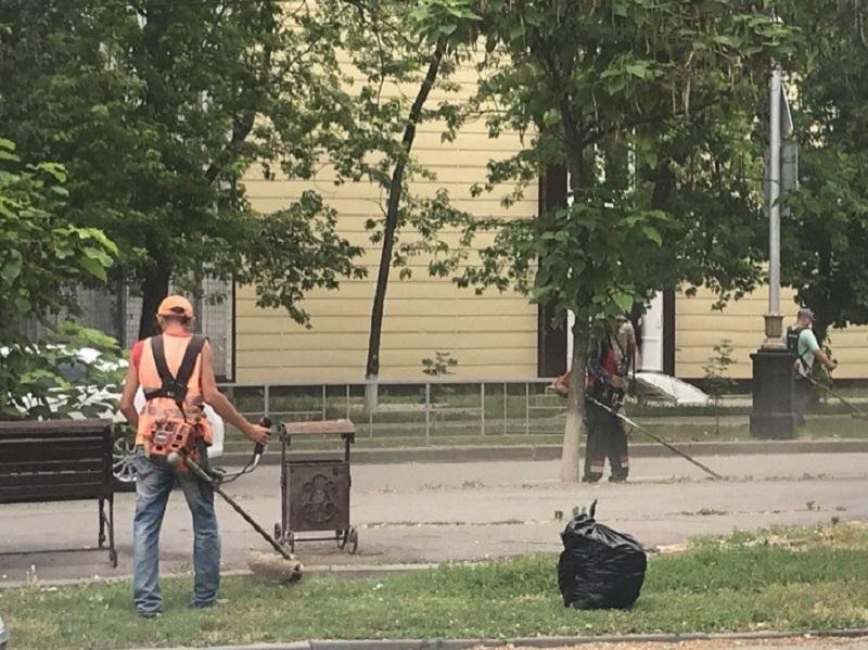 44 косаря и 3 роторные косилки задействованы в покосе травы в Волгодонске