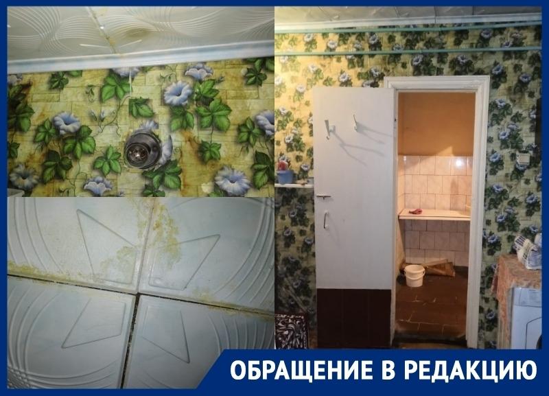 Второй месяц в квартире волгодонцев заливает стены и потолки