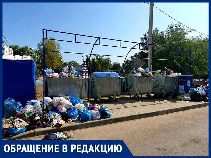 Около лучшей детской площадки Волгодонска появились «двухнедельные горы» мусора