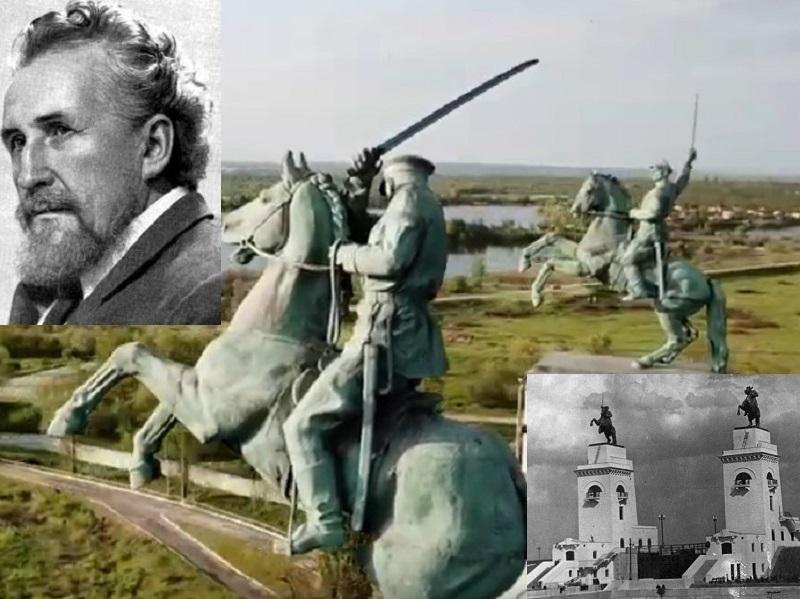 Величественных «казаков», украшающих шлюз Волго-Донского судоходного канала, показали с высоты птичьего полета