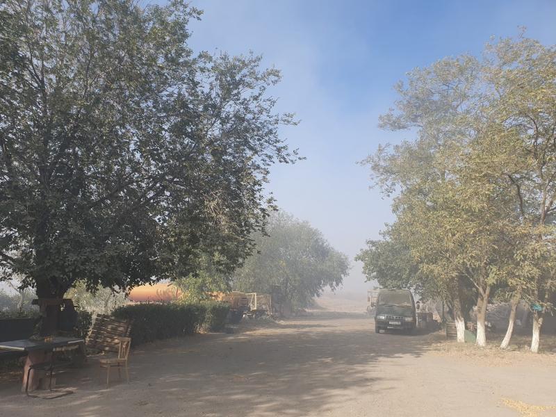 Волгодонск вновь окутала завеса дыма от тлеющей свалки