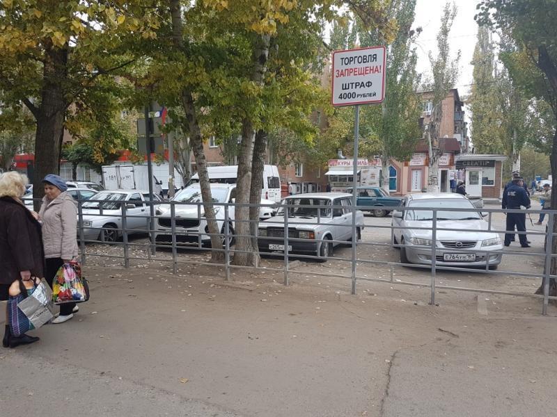 Сплошные дежурства организованы в районе стихийного рынка на Машеньке