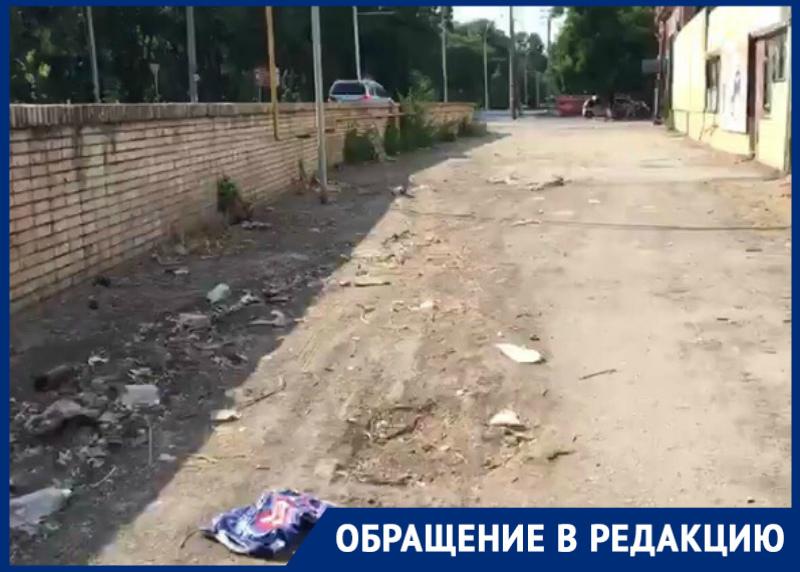 «Шикарный Волгодонск» и его замусоренные улицы волгодонец снял на видео