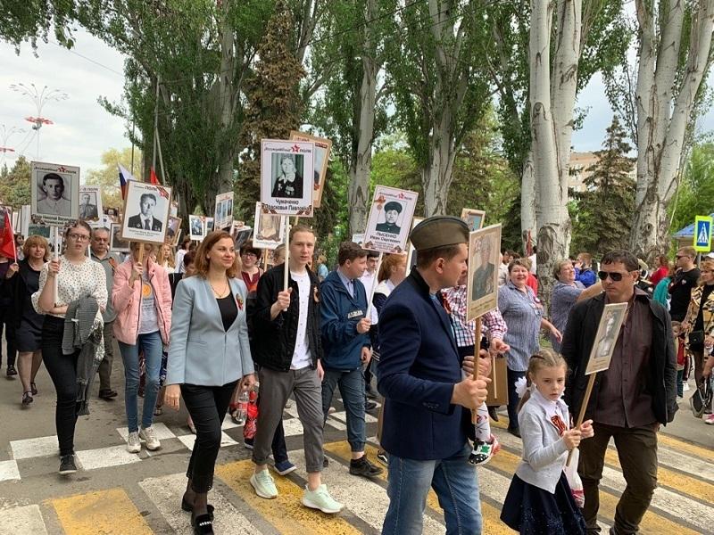В «Бессмертном полку» приняло участие почти 9% жителей Волгодонска