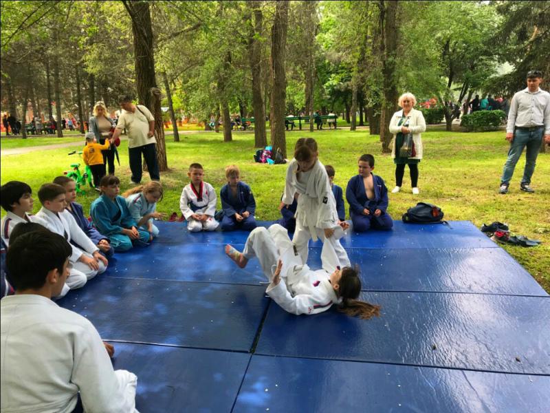Приемы самообороны показали волгодонцам дзюдоисты на мастер-классе в честь Дня Победы