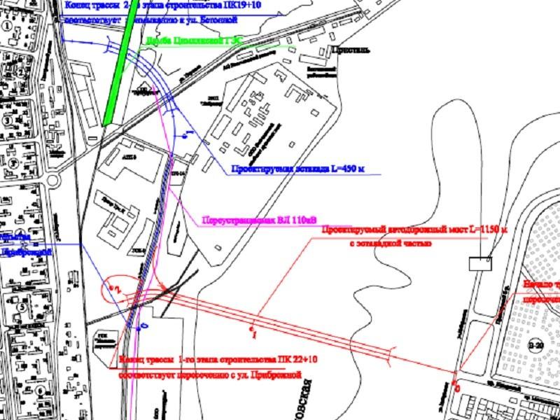 В Волгодонске построят четырехполосные автострады к третьему мосту через залив