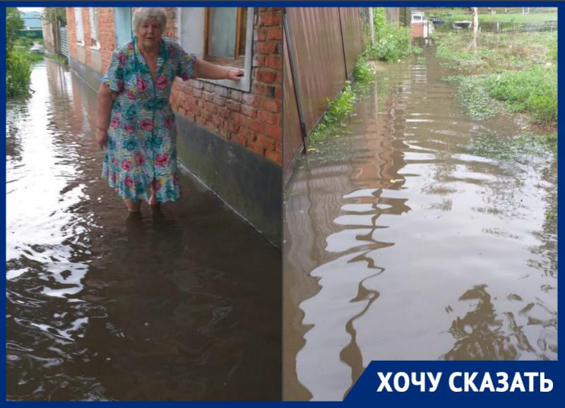 Жилой двор в станице Романовской ушел под воду
