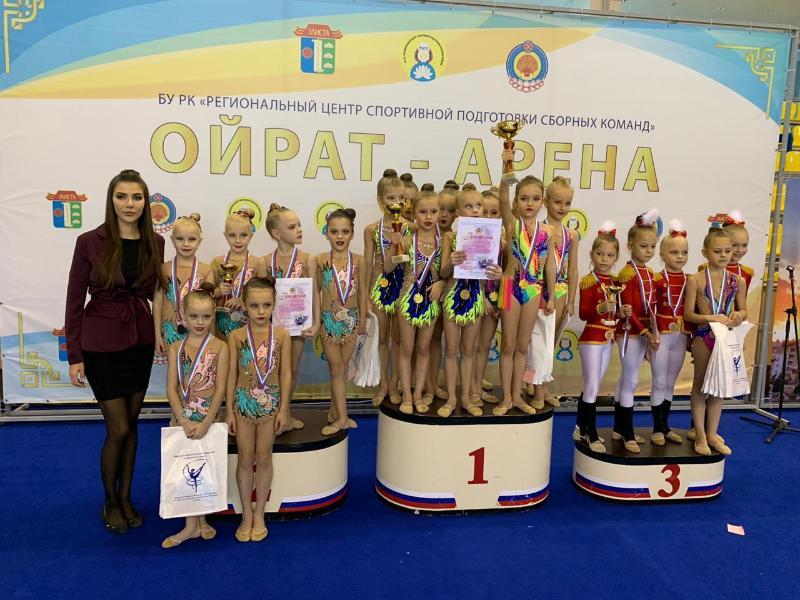 Юные гимнастки из Волгодонска триумфально выступили на соревнованиях в Элисте