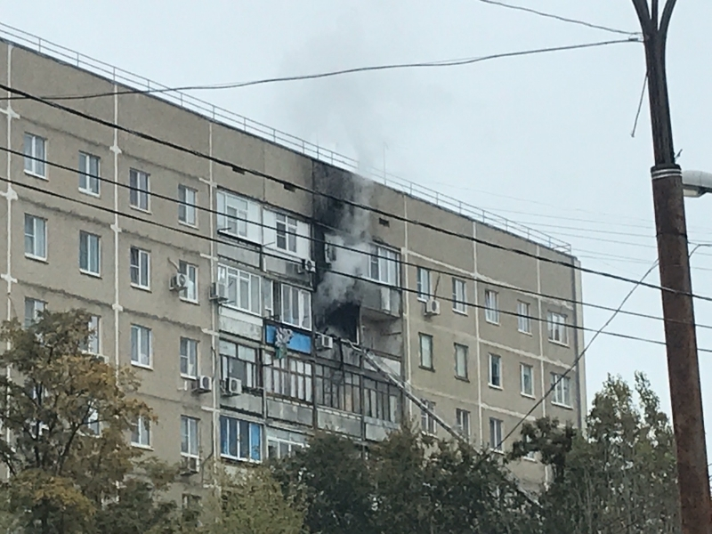 Квартира загорелась в доме на улице 30 лет Победы