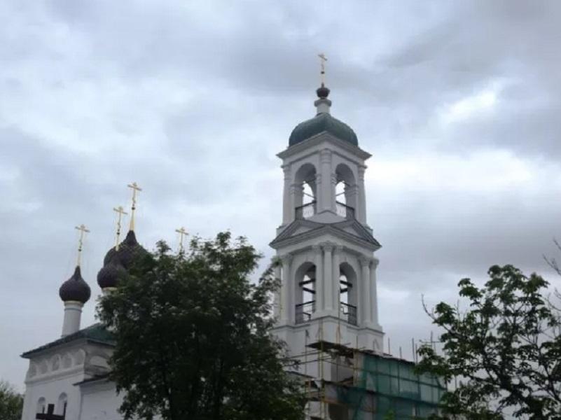 В Ярославле восстановили знаменитую колокольню  с крестом из Волгодонска