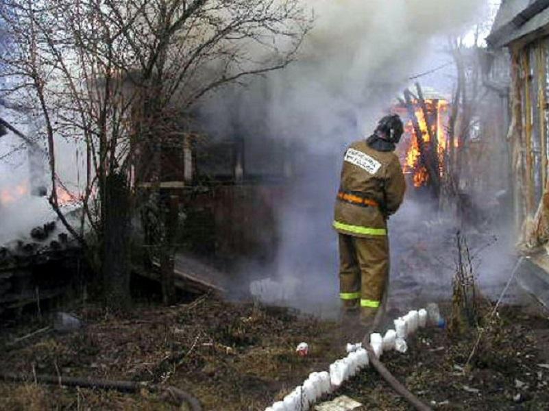 В садоводстве «Маяк» сгорела дача