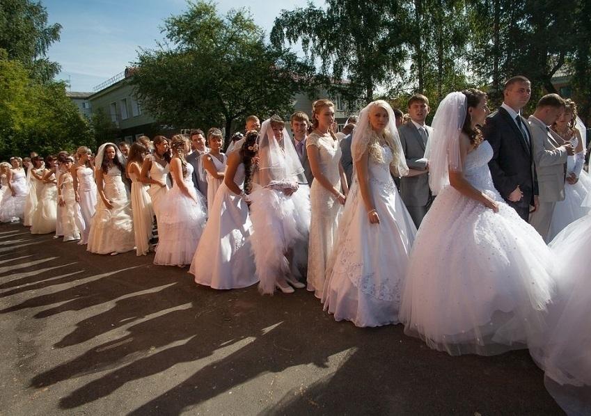 Влюбленные пары из Волгодонска активно женятся в День семьи
