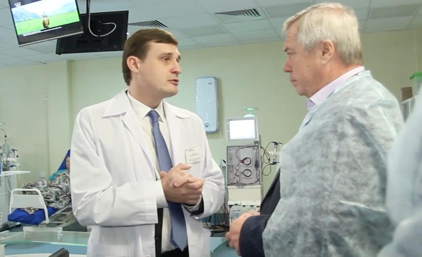 Губернатор Голубев оценил диализный центр и темпы развития «бережливой поликлиники» в Волгодонске