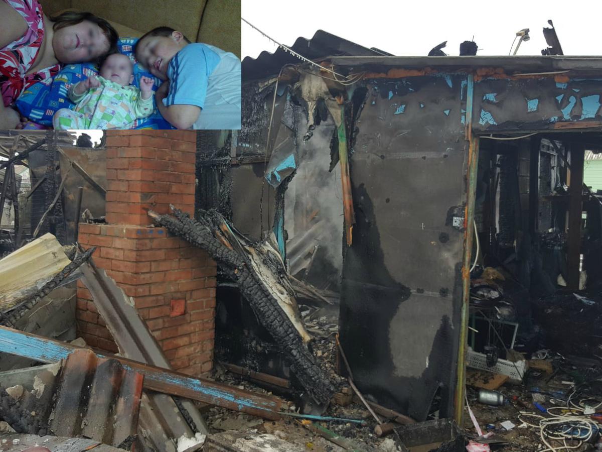 Оставшаяся в живых при пожаре 13-летняя школьница находится в тяжелом состоянии в больнице Волгодонска