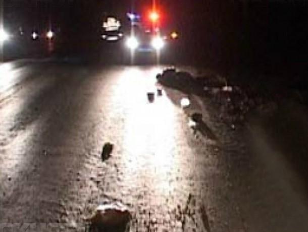 В Волгодонске в новогоднюю ночь водитель ВАЗа сбил трех людей идущих по обочине