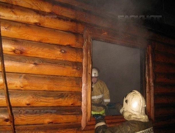 Баня сгорела в Старосоленом в Волгодонске
