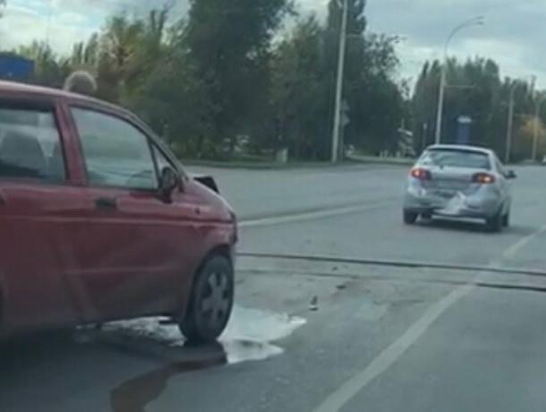 «Део Матиз» въехал в «Шевролет» на Романовском шоссе