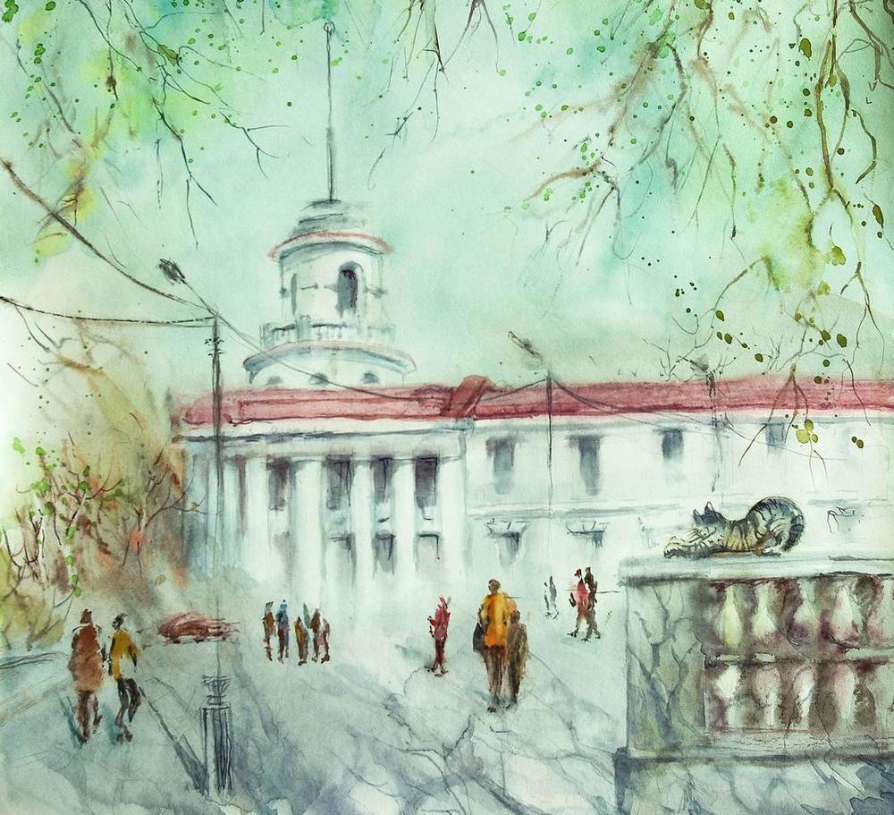 Картина с видом на старейшее здание Волгодонска признана культурной ценностью