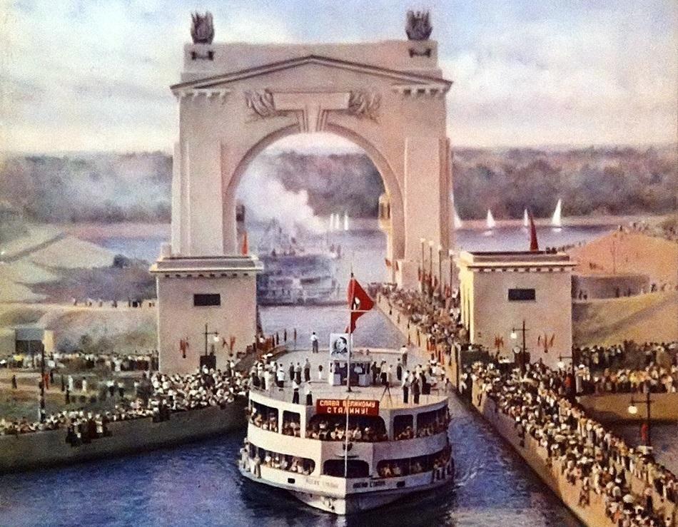 Ровно 65 лет назад минута в минуту состоялось торжественное открытие Волго-Донского судоходного канала