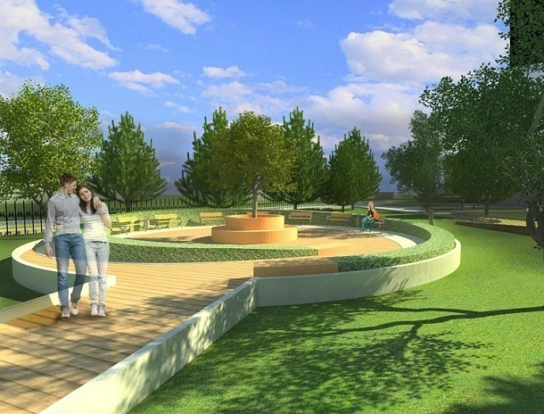 Каким предлагают сделать сквер «Дружба» в Волгодонске в рамках проекта «Комфортная городская среда»