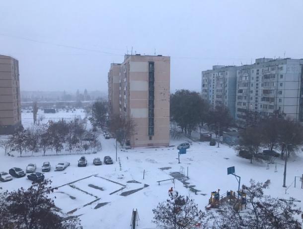 На протяжении всего дня в Волгодонске будет идти ливневый снег