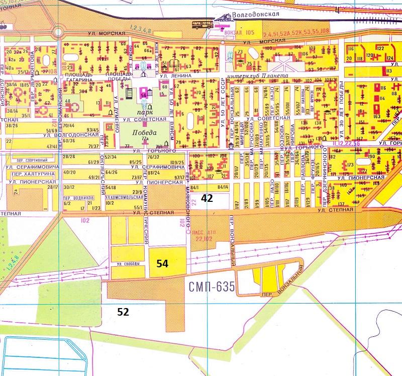 Карта волгодонска в картинках